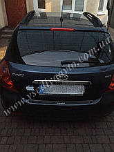 Накладка на бампер KIA CEED 5-дверка с 2006 г. (NataNiko Carbon)