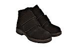 Жіночі замшеві черевики демісезонні на липучках чорні 233117, фото 2