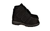 Жіночі замшеві черевики демісезонні на липучках чорні 233117, фото 3