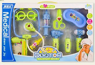 Набор Доктора BS8401A свет-звук,стетоскоп, шприц,очки,инструменты