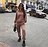 Прогулянковий жіночий спортивний костюм оверсайз трехнитка світшот з брюками