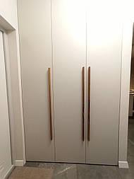 Длинные дизайнерские ручки мебельные деревянные плакни (Фигурные з однієї сторони)