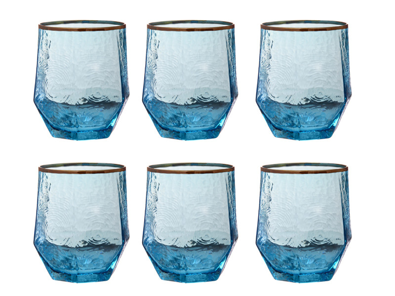 Бирюзовые стаканы Бирюза Richard Blue 450мл 6шт