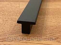 Длинные дизайнерские ручки мебельные деревянные плакни (Т-образная)