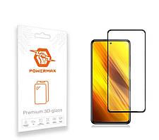 Захисне скло Powermax 3D Premium Xiaomi Poco X3, Poco X3 NFC Black (PWRMX3DXPX3B)