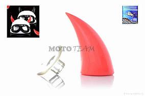 Стайлинг шлема  #Рога  (красные)