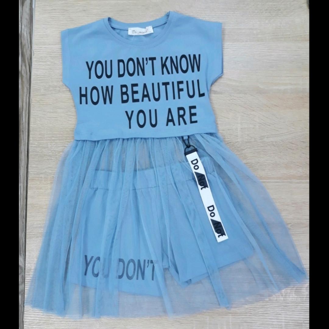 Детское платье-костюм для девочки 5-8 лет