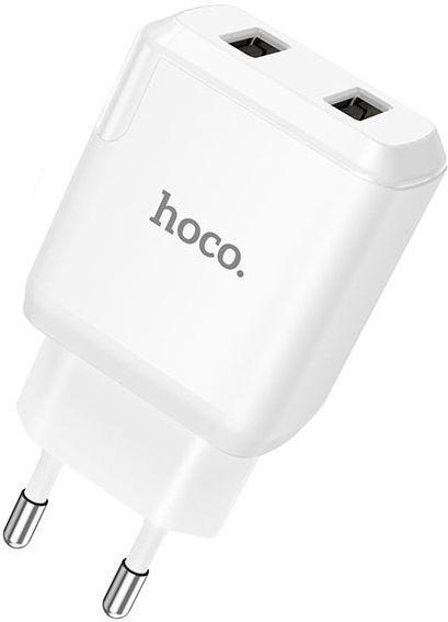 Мережевий зарядний пристрій Hoco N7 Speedy 2USB White