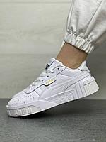 Женские кеды кроссовки Puma Cali White кроссовки пума кали белые