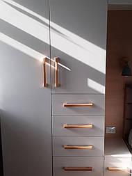 Ручки мебельные деревянные (Скоба Широкая)