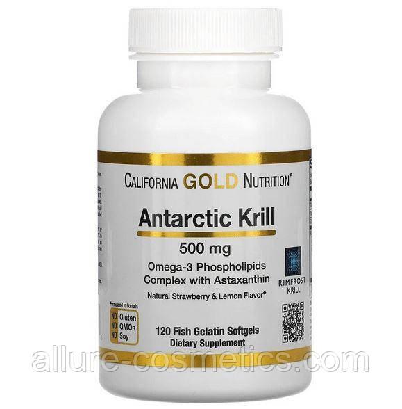 Масло антарктичного криля California Gold Nutrition RIMFROST з астаксантином 500 мг 120 м'яких таблеток