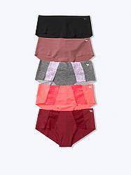 Безшовні трусики Victoria's Secret PINK No Show Panty Набір 5 шт, L Без візерунків та принтів