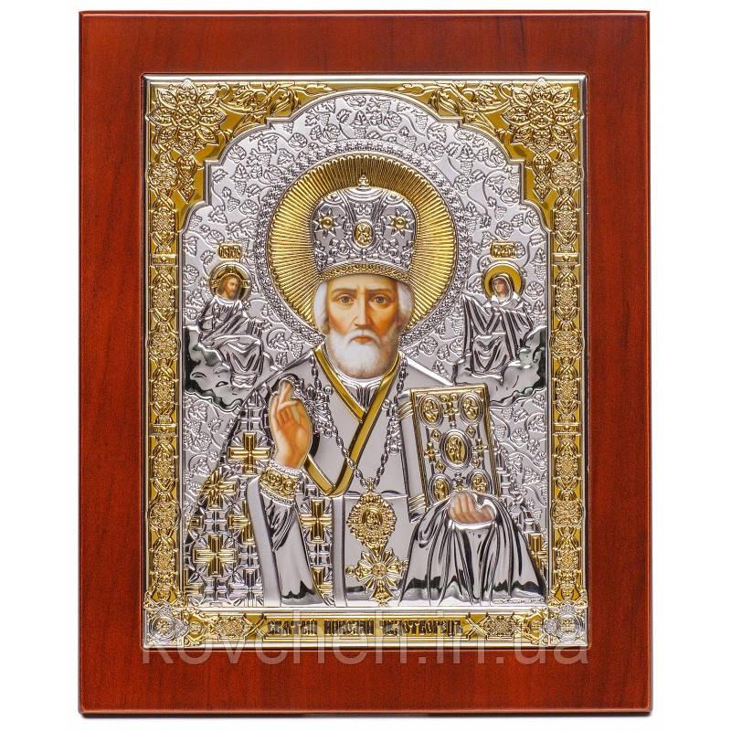 Икона Святой Николай Греческая Серебряная,8,6x10,5