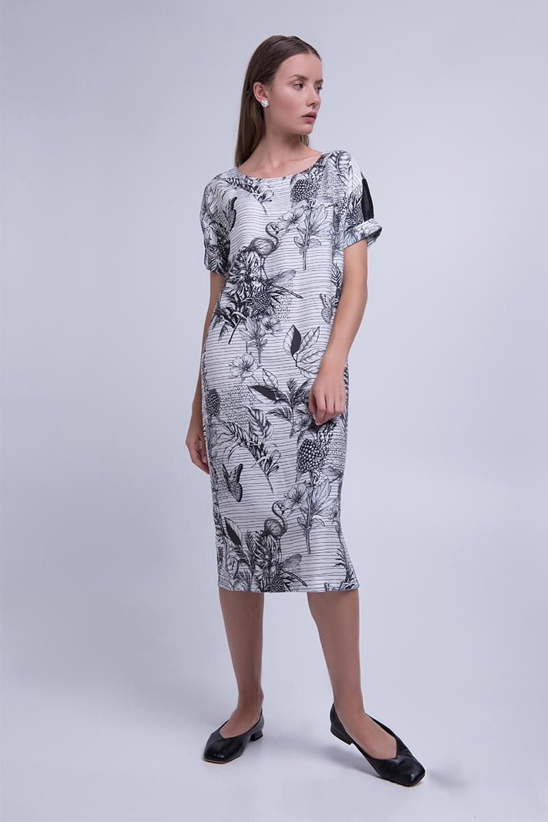 Летнее платье в цветочный принт из штапеля Lesya Изерт