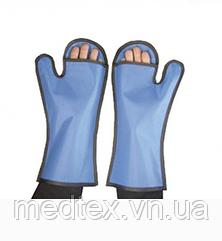 Перчатки рентгенозащитные с открытой внутренней поверхностью