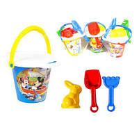 Пісочний набір,5 пред.,в ассортим.,пісочний набір toys plast ИП.21.009