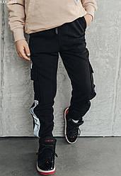 Детские cпортивные штаны Staff reflective чёрный KKK0488