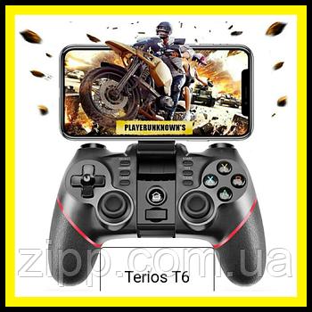 Безпровідний Геймпад Terios T-6 Джойстик + кріплення Bluetooth для PC iOS, Android для смартфона, PC, Smart TV