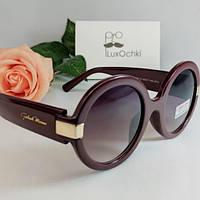 Женские солнцезащитные круглые очки в пластиковой оправе Gabriela Marioni