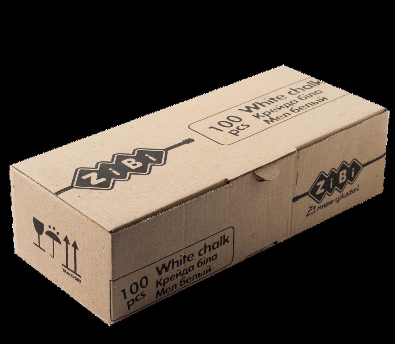 Мел белый квадратный школьный, 100 шт., KIDS Line  ZB.6712-12
