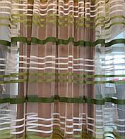 Тюль полоски салатовый купить tyulnadom