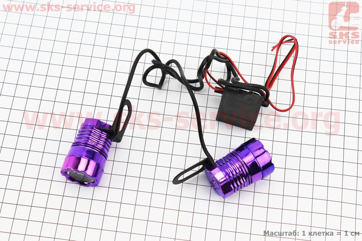 Стробоскоп - 1 LED з кріпленням круглий, к-кт 2шт (351208)