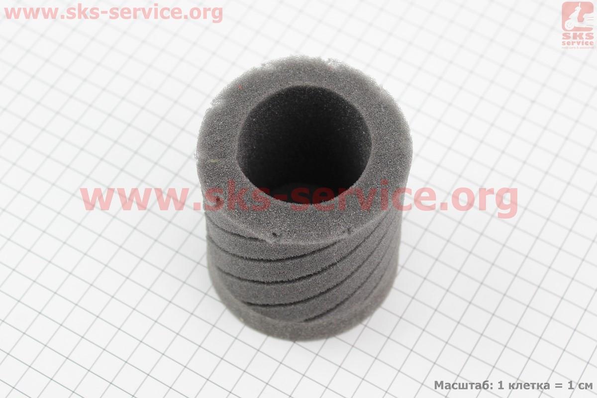 """Фільтр повітряний нульовий елемент для 35мм """"циліндр"""" (поролоновий), ЧОРНИЙ (301972)"""
