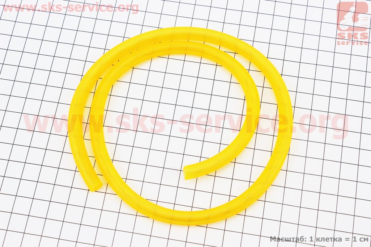 Шланг паливний силікон ПОМАРАНЧЕВИЙ (зовн.8мм, внутр. 5мм) - 35см (354017)