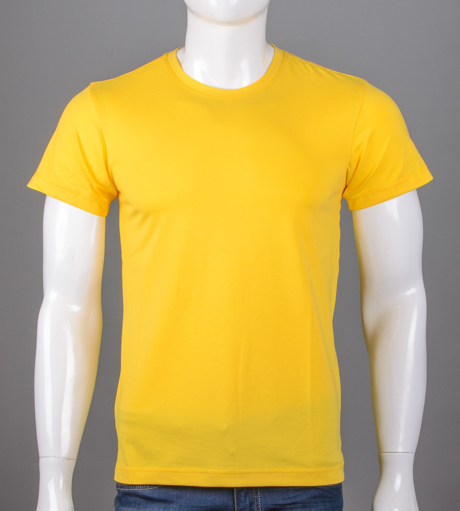 -Р- Футболка мужская однотонная  Желтый (0Г00м), XL