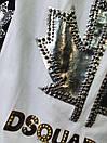 Футболка з декорованим малюнком і написом з перлів і страз в чорному і білому кольорі (р. 42-48) 7617441, фото 2