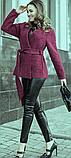 Короткое женское пальто. Темно-фиолетовое. На запах, с поясом. Размер 42., фото 2