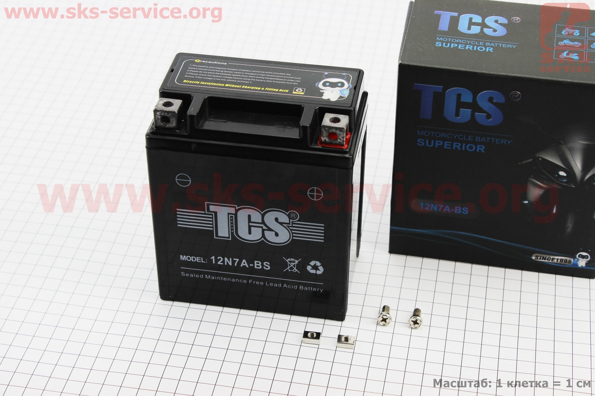 Аккумулятор 7Аh МОТО 12N7A-BS гелевый (L113*W70*H132mm), 2021 (348130)