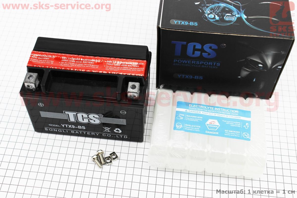 Акумулятор 9Аһ YTX9-BS кислотний (L150*W87*H105mm), 2020 (348105)
