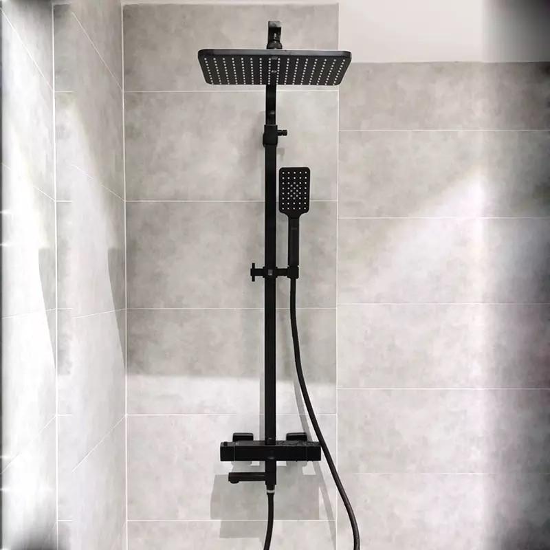 Душевой гарнитур скрытого монтажа 3в1 WanFan душевая система стационарный душ кран Черный