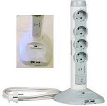 Сетевой фильтр Legrand 4xSchuko, 2хUSB, 1хmicroUSB, УЗИП, 3Gх1,5 мм, 2м, белый, мультимедийный