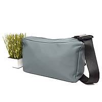 Жіноча сумка на довгій ручці поліестер сіра Арт.402 light gray Suliya (Китай)