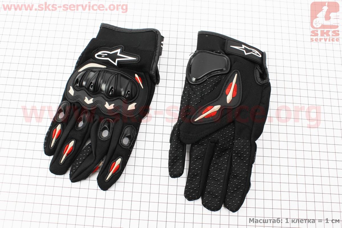 Перчатки мотоциклетные L-черные (337751)