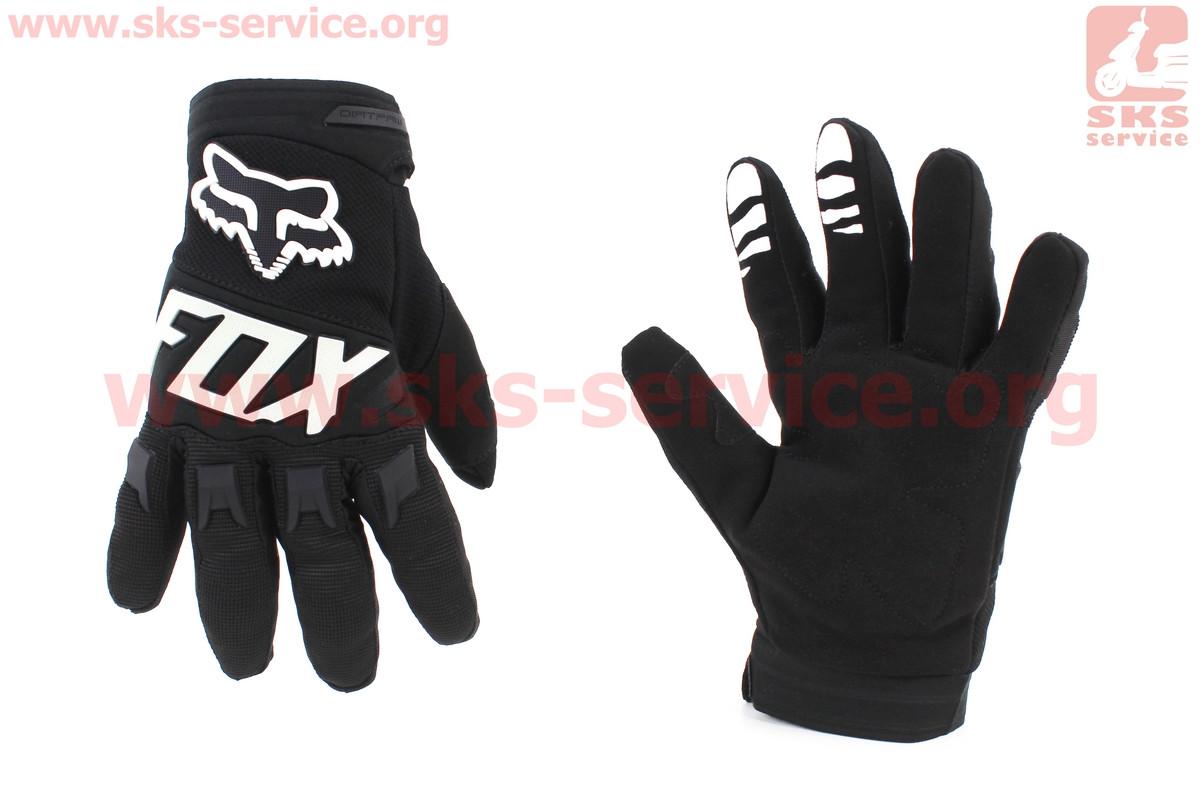 Мотоциклетні рукавички L-чорно/білий (354064)
