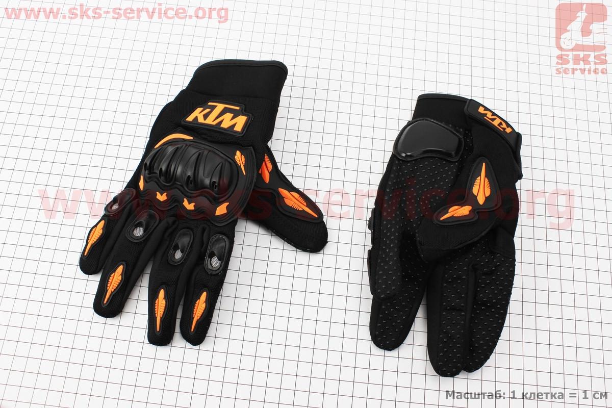 Перчатки мотоциклетные L-черно/оранжевые (337749)