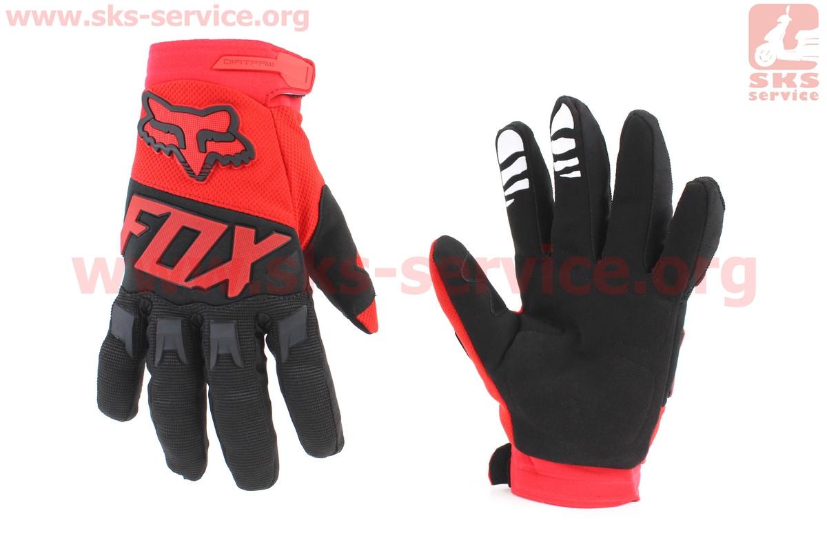 Мотоциклетні рукавички L-чорно/червоний (354067)