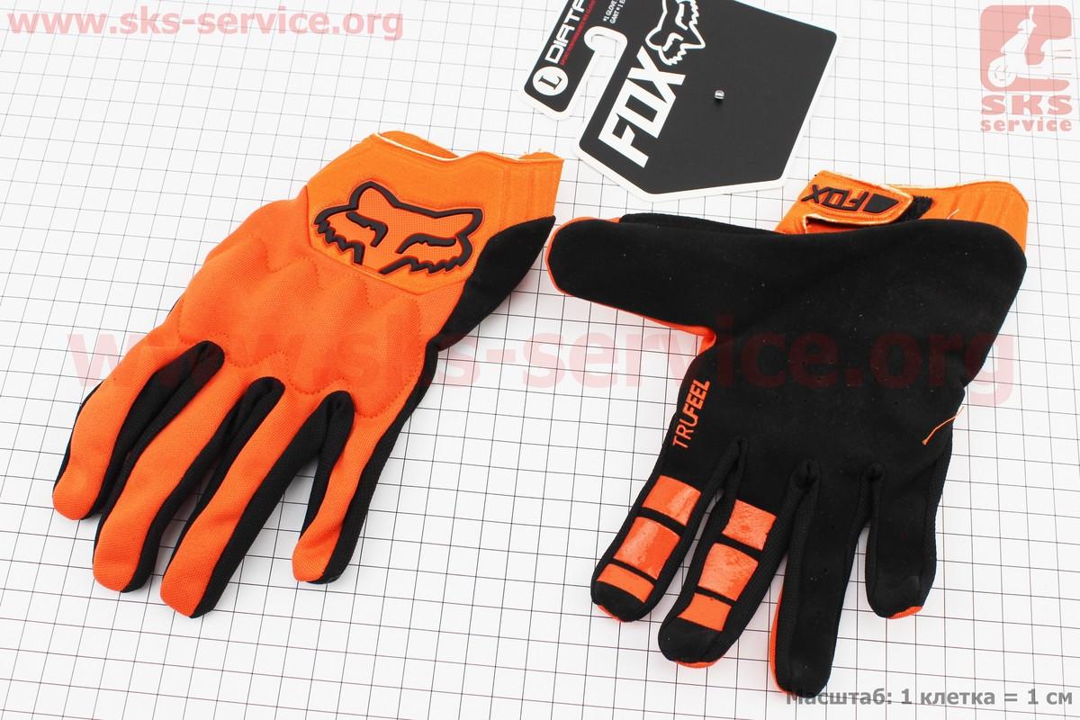 Перчатки мотоциклетные L-черно/оранжевые, тип 1 (337747)