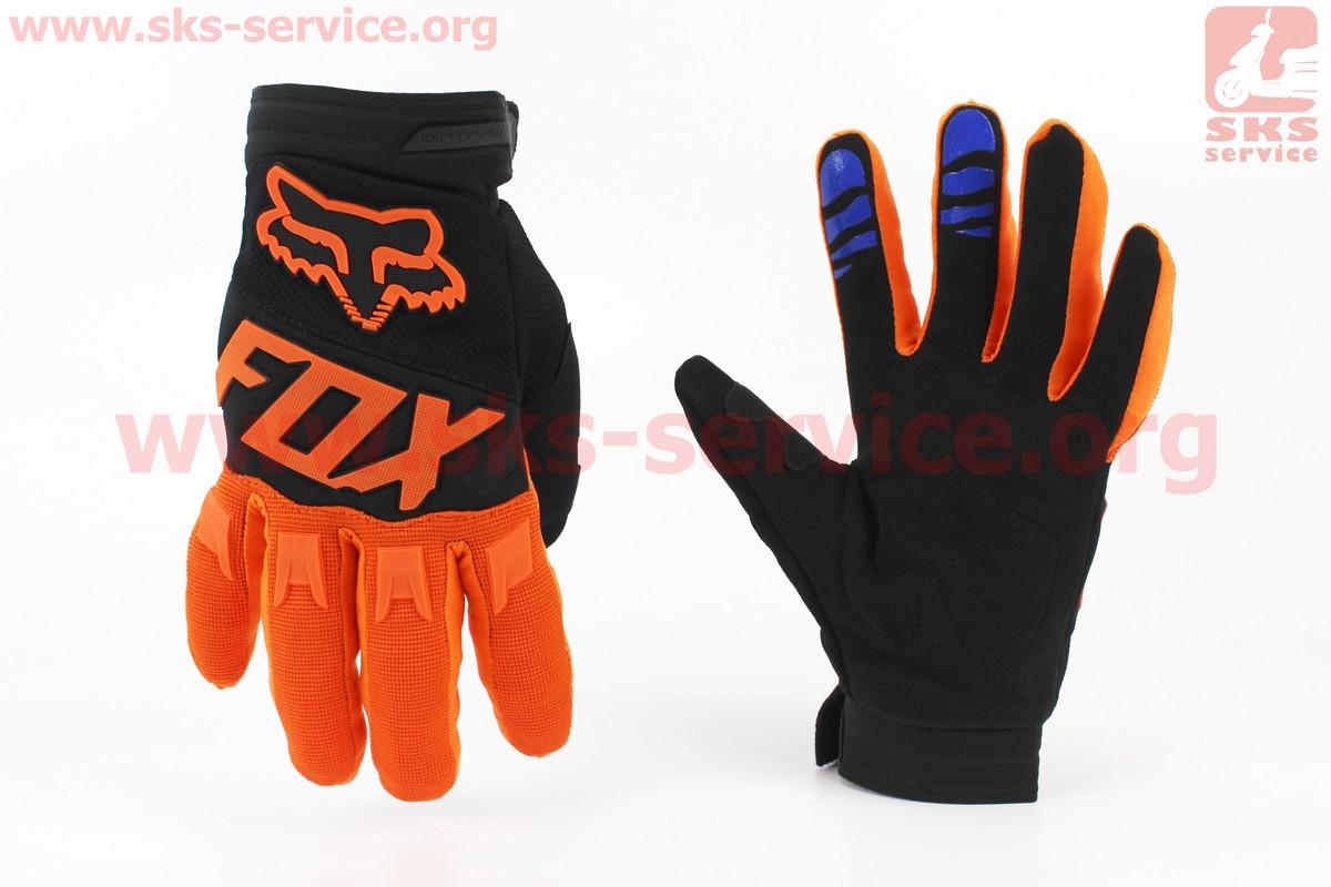 Мотоциклетні рукавички L-чорно/помаранчеві, тип 2 (354080)