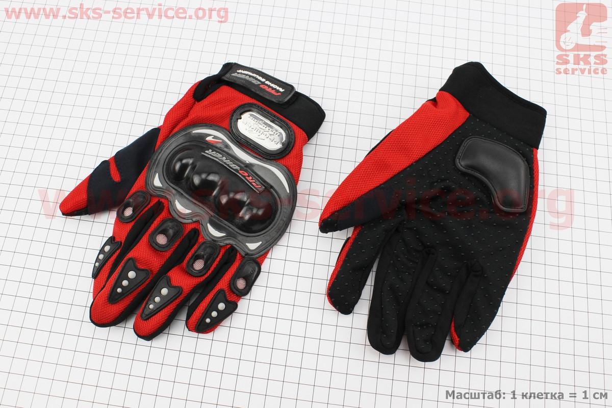 Мотоциклетні рукавички L-червоні, тип 1 (337512)