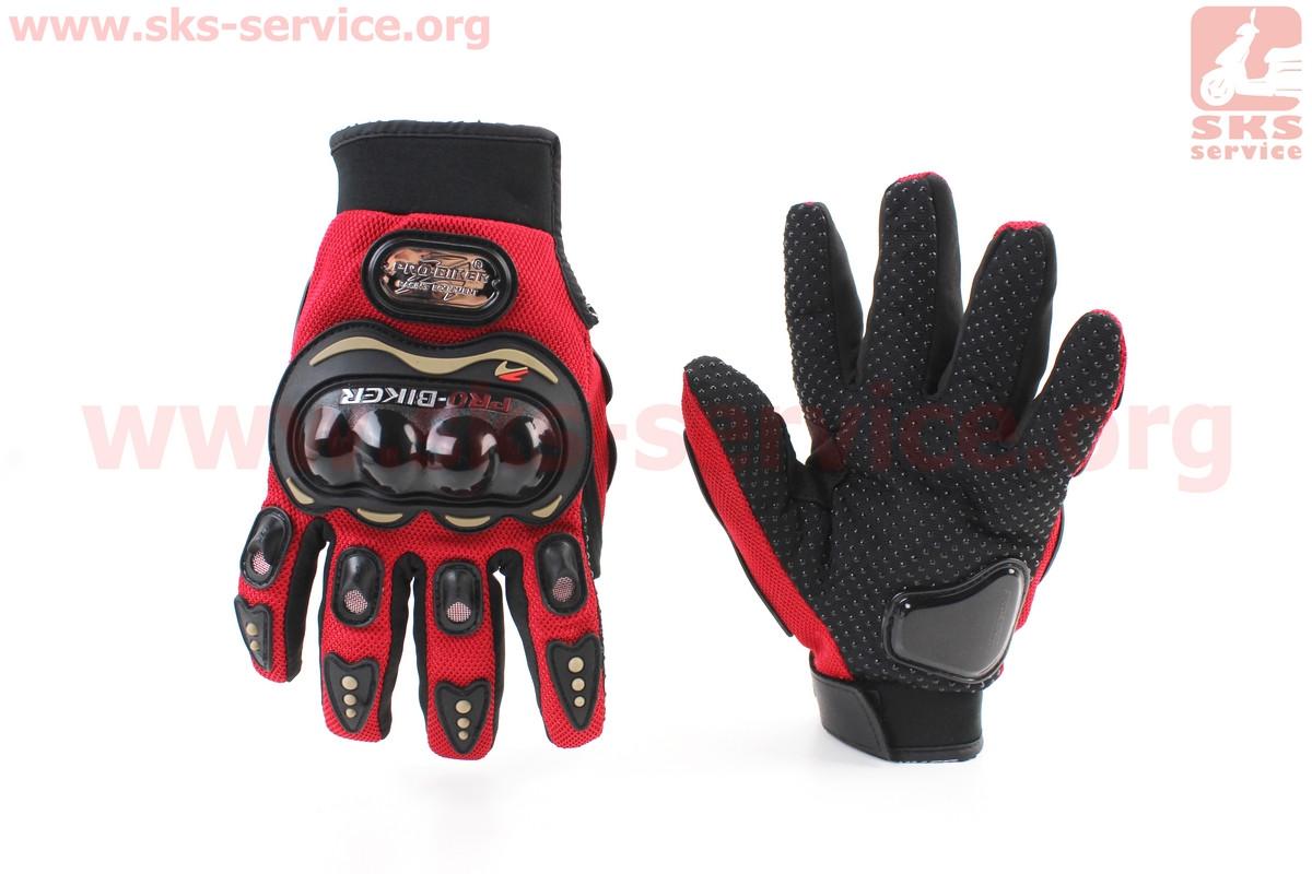 Мотоциклетні рукавички L-червоні, тип 2 (355001)