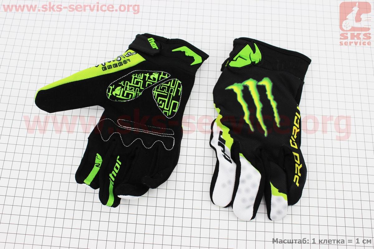Перчатки мотоциклетные XL-зеленые, тип 3 (337894)