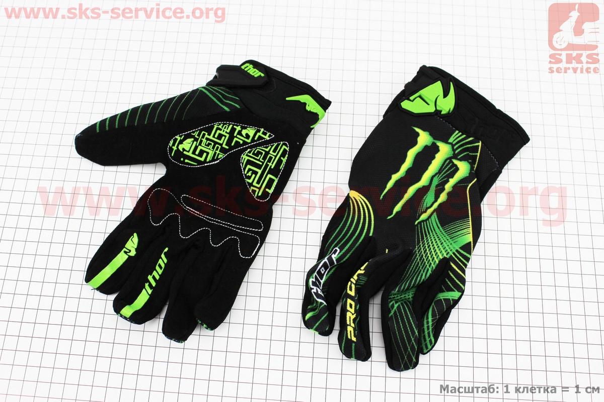 Перчатки мотоциклетные XL-зеленые, тип 4 (337896)
