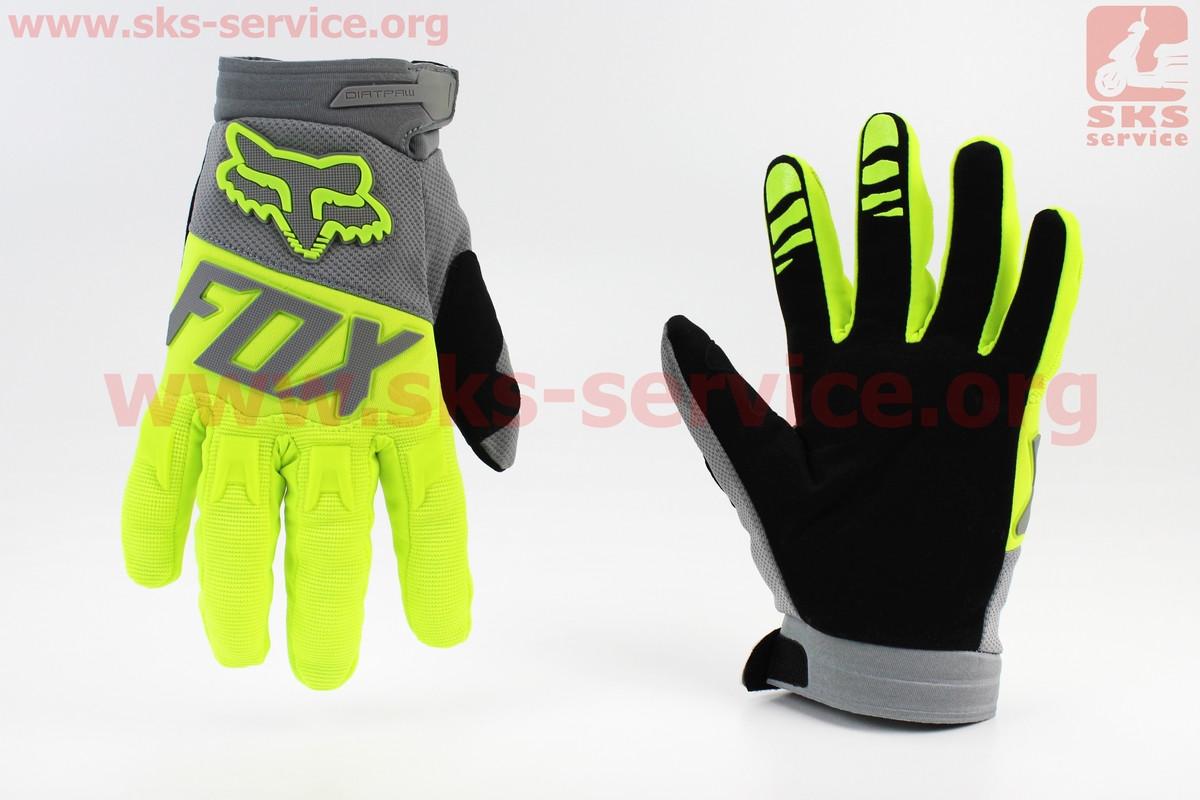 Мотоциклетні рукавички XL-зелені (354070)