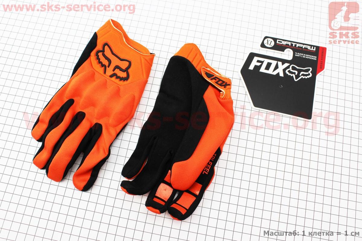 Перчатки мотоциклетные XL-черно/оранжевые, тип 1 (337748)