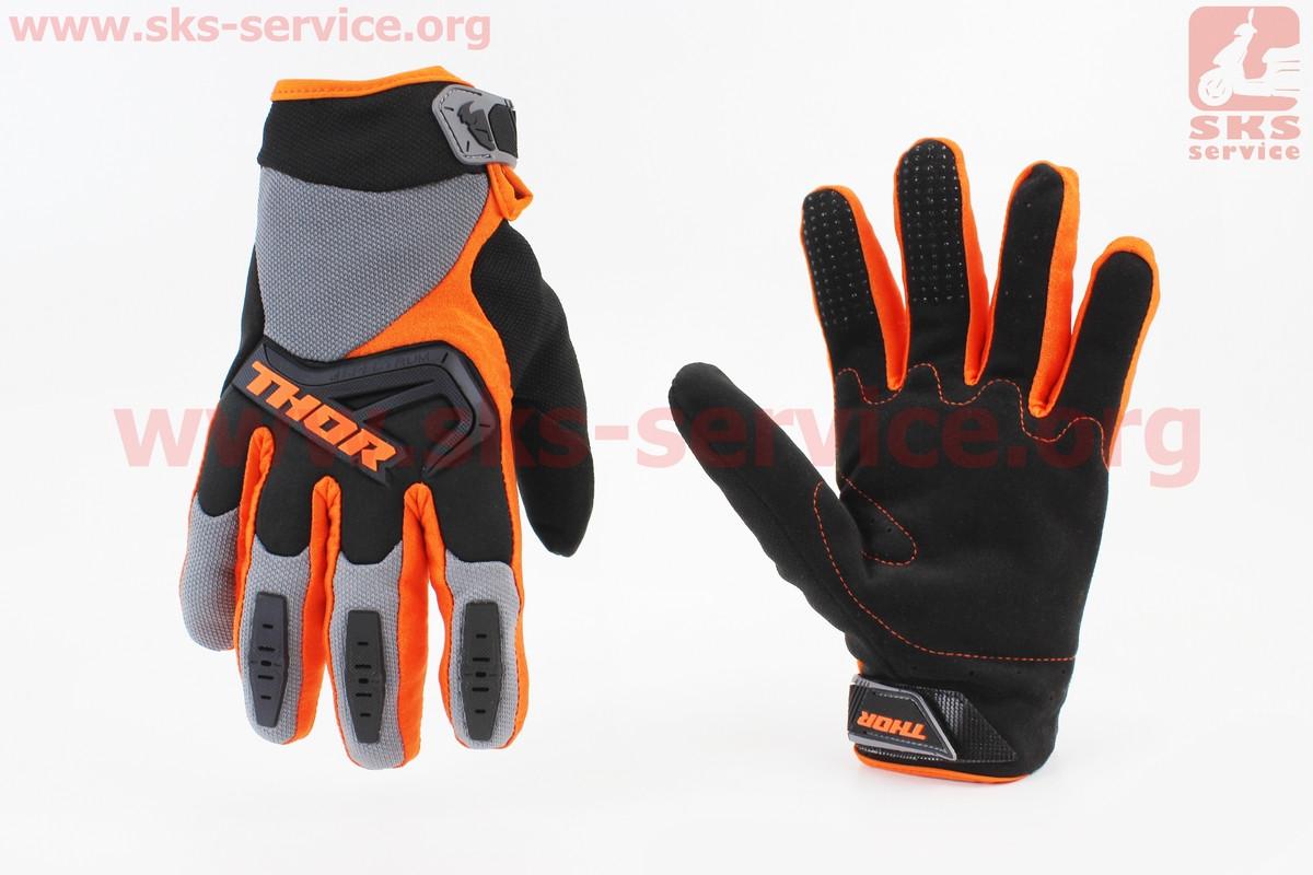 Перчатки мотоциклетные XL-черно/оранжевые (354091)