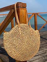 Женская красивая круглая пляжная сумка